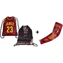 Forever Fanatics USA James #6 Basketball Gift Set ✓ USA James Picture Drawstring Backpack Gym Bag /& Matching Picture Compression Shooter Arm Sleeve