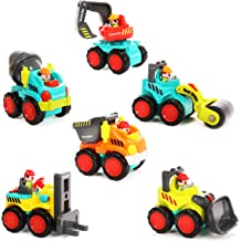 IQ Toys Set of 3 Emergency Rescue Vehicles Playset Ambulance Fire and Police Truck with Lights and Sirens