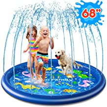 BATURU Splash Pad for Dogs /& Toddlers Dog Bath Pool Super Anti-Slip /& Durable Sprinkle Pad for Summer Outdoor Water Toys