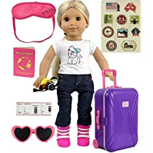 "18/"" Doll Deluxe LUGGAGE SET Suitcase For American Girl Boy Our Generation Travel"