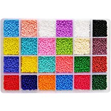 10 Colors, 300pcs//Color BALABEAD 3000pcs in Box 6//0 Glass Seed Beads for Jewelry Making Loose Spacer Opaque Beads 4mm Round Seed Beads with Hole 1.2mm