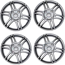 TuningPros WSC-616B17 Hubcaps Wheel Skin Cover 17-Inches Matte Black Set of 4